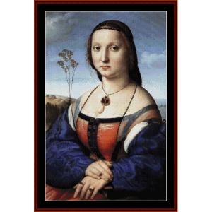 magdalena doni - raphael cross stitch pattern by cross stitch collectibles