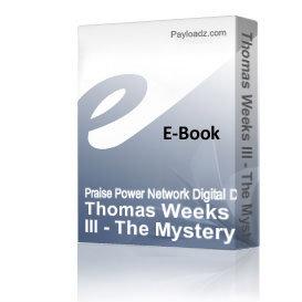 thomas weeks iii - the mystery of love