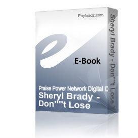 Sheryl Brady - Don't Lose Your Altar | Audio Books | Religion and Spirituality