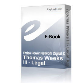 thomas weeks iii - legal access to wealth