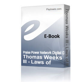 Thomas Weeks III - Laws of Respect & Favor | Audio Books | Religion and Spirituality