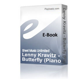 lenny kravitz - butterfly (piano sheet music)
