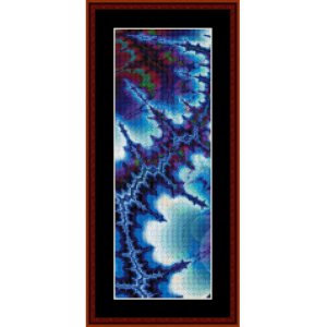 fractal 236 bookmark cross stitch pattern by cross stitch collectibles