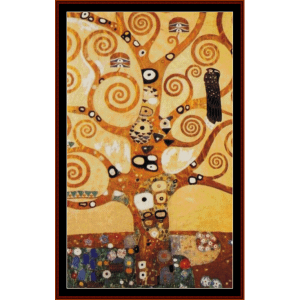 tree of life ii - klimt cross stitch pattern by cross stitch collectibles