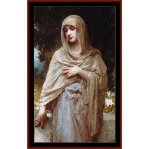 modesty - bouguereau cross stitch pattern by cross stitch collectibles