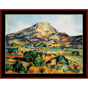 montmarte 1897 - cezanne cross stitch pattern by cross stitch collectibles