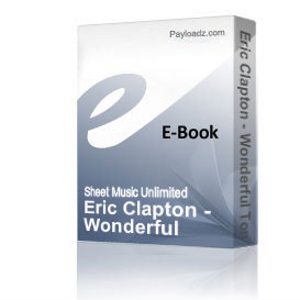 eric clapton - wonderful tonight (piano sheet music)