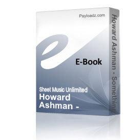 Howard Ashman - Something There (Piano Sheet Music)   eBooks   Sheet Music