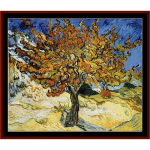 mulberry tree - van gogh cross stitch pattern by cross stitch collectibles