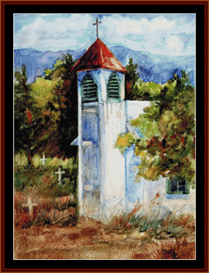 New Mexico Church cross stitch pattern by Cross Stitch Collectibles | Crafting | Cross-Stitch | Wall Hangings