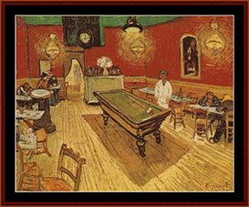 the night cafe - van gogh cross stitch pattern by cross stitch collectibles