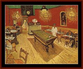 The Night Cafe - Van Gogh cross stitch pattern by Cross Stitch Collectibles | Crafting | Cross-Stitch | Other