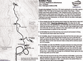 soldier pass sedona arizona 4x4 jeep trail bw map