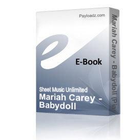 mariah carey - babydoll (piano sheet music)