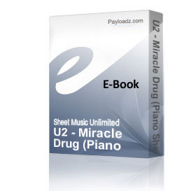 u2 - miracle drug (piano sheet music)