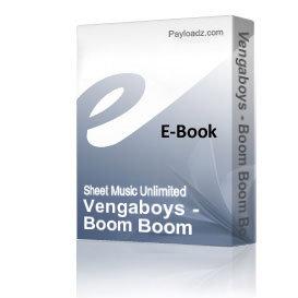 vengaboys - boom boom boom (piano sheet music)