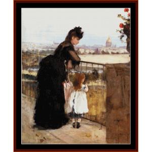 On the Balcony - Morisot cross stitch pattern by Cross Stitch Collectibles | Crafting | Cross-Stitch | Wall Hangings