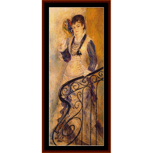 on the stairs - renoir cross stitch pattern by cross stitch collectibles