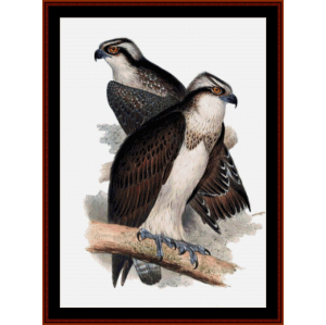 Ospreys - Wildlife cross stitch pattern by Cross Stitch Collectibles | Crafting | Cross-Stitch | Wall Hangings
