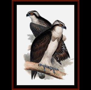 ospreys - wildlife cross stitch pattern by cross stitch collectibles