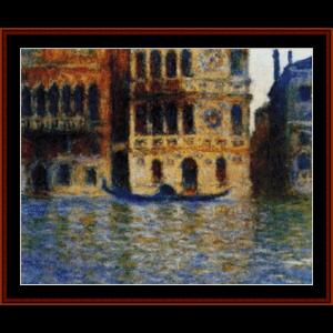 palazzo dario - monet cross stitch pattern by cross stitch collectibles