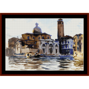 Palazzo Labbia Venice - Sargent cross stitch pattern by Cross Stitch Collectibles | Crafting | Cross-Stitch | Wall Hangings
