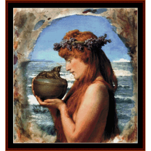 pandora - alma tadema cross stitch pattern by cross stitch collectibles