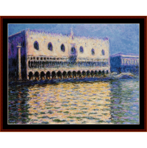 the palazzo ducale - monet cross stitch pattern by cross stitch collectibles