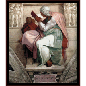persian sibyl - michelangelo cross stitch pattern by cross stitch collectibles