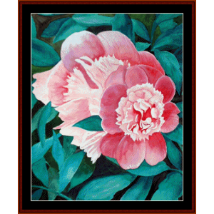 peonies - floral cross stitch pattern by cross stitch collectibles