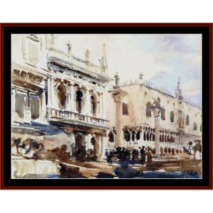 the piazzetta and doges palace - sargent cross stitch pattern by cross stitch collectibles