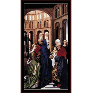 The Presentation of Christ - van der Weyden cross stitch pattern by Cross Stitch Collectibles | Crafting | Cross-Stitch | Wall Hangings