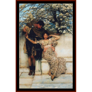 the promise of spring - alma tadema cross stitch pattern by cross stitch collectibles