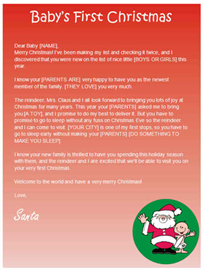 Babys First Christmas Letter from Santa | Other Files | Documents and Forms