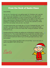 Christmas Letter from Santa - Kindergarten (Angel Design) | Other Files | Documents and Forms