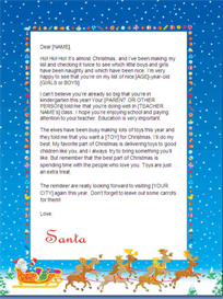 Christmas Letter from Santa - Kindergarten (Sleigh Design) | Other Files | Documents and Forms