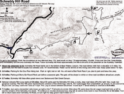schnebly hill road sedona arizona 4x4 jeep trail bw map