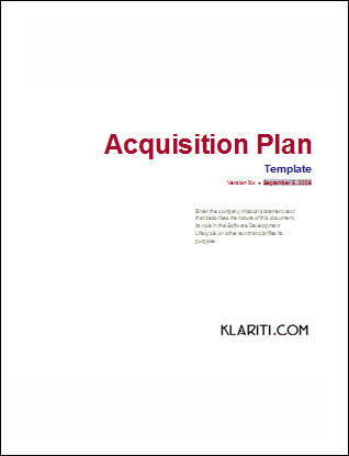Acquisition Plan Excel Template For 5 Year Plan Other Files