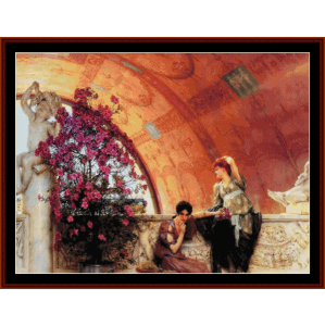 unconcious rivals - alma tadema cross stitch pattern by cross stitch collectibles