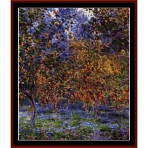 under the lemon trees - monet cross stitch pattern by cross stitch collectibles