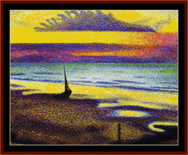 beach at heist - lemmen cross stitch pattern by cross stitch collectibles