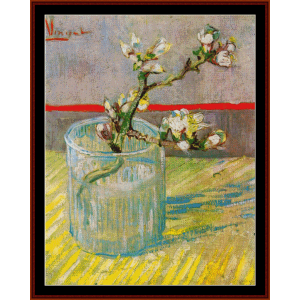 blossoming almond branches - van gogh cross stitch pattern by cross stitch collectibles