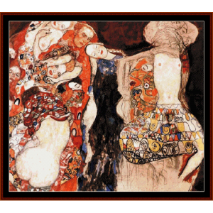 the bride - klimt cross stitch pattern by cross stitch collectibles