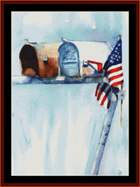 Waiting to Hear cross stitch pattern by Cross Stitch Collectibles | Crafting | Cross-Stitch | Wall Hangings