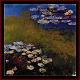 waterlilies ii - monet cross stitch pattern by cross stitch collectibles