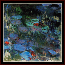 waterlilies iii - monet cross stitch pattern by cross stitch collectibles
