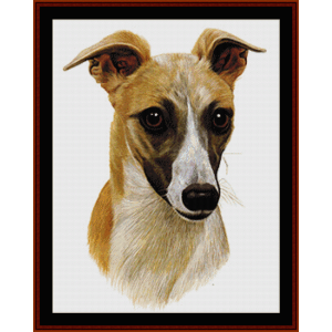 whippet - robt. j. may cross stitch pattern by cross stitch collectibles