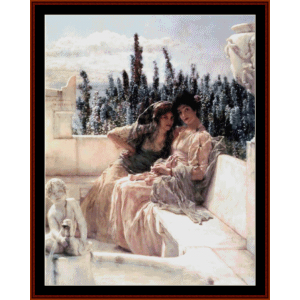 Whispering Noon - Alma Tadema cross stitch pattern by Cross Stitch Collectibles | Crafting | Cross-Stitch | Wall Hangings