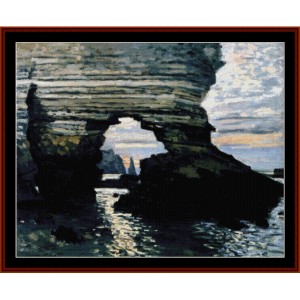 la porte damount etretat - monet cross stitch pattern by cross stitch collectibles