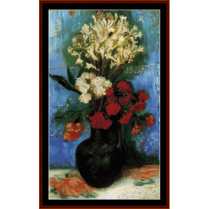 vase with flowers - van gogh cross stitch pattern by cross stitch collectibles